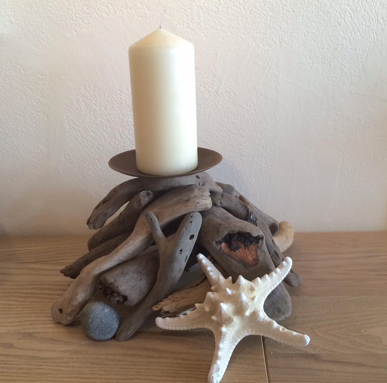Driftwood Candle Holder Solva Sail Loft